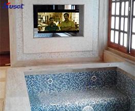 高清12.4寸浴缸前防水电视