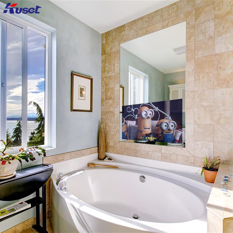 高清32寸浴缸前大镜面电视