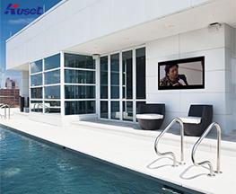 高清65寸游泳池镜面电视