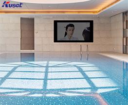 高清86寸游泳池镜面电视