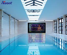 高清98寸游泳池镜面电视